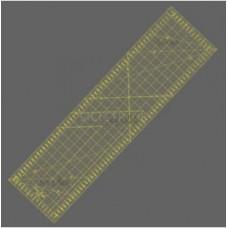 Rastrové pravítko pro quilting a patchwork 16 x 60 cm, žlutý popis